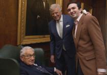 Dr. Henry Kissinger, Dr. Herb London and Nass