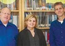(Left to right) Prof. Amichai Cohen, Maj.-Gen.(res.) Orna Barbivai and Prof. Yuval Shany