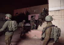 IDF forces operate in the West Bank during overnight hours on March 18th, 2018.