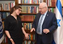 President Reuven Rivlin and Mayim Bialik March 18, 2018