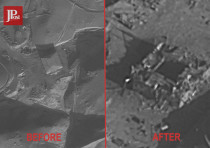 Before and after aerial picture of the Syrian nuclear reactor site