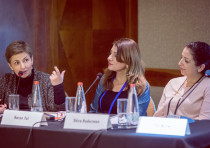 JFN Prize Panel: From left, Sana Britavsky, Deputy CEO, Genesis Prize Foundation; Karen Tal, CEO Tov