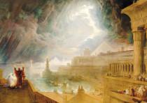 'THE SEVENTH Plague of Egypt' (1823) by English Romantic painter John Martin