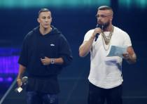 German rappers Kollegah and Farid Bang at the Echo Awards