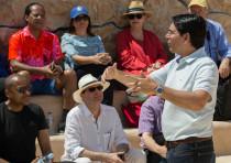 Ambassador Danon speaking with the UN ambassadors at Masada