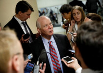 Sen. Ben Cardin (D-MD) speaks with reporters ahead of the party luncheons on Capitol Hill in Washing