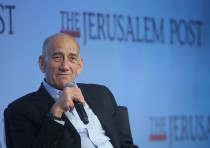 Former prime minister Ehud Olmert at the 7th Annual JPost Conference in NY