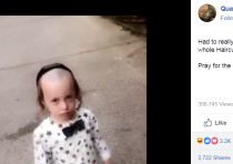 A screenshot from a viral video of man berating a young hassidic boy