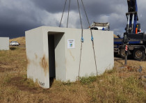 KKL-JNF transports portable bomb shelters for installation in Golan Heights communities