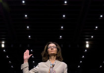 CIA director nominee and acting CIA Director Gina Haspel is sworn in to testify.