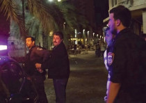 Police arrest Jafar Farah, director of the Mossawa Center, in Haifa on Friday night.