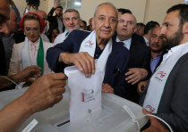Lebanese Parliament Speaker and candidate for parliamentary election Nabih Berri.