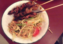 A dish at Thai on Har Sinai  restaurant