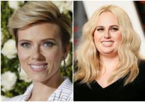 Actresses Scarlett Johansson and Rebel Wilson