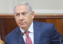 Prime minister Benjamin Netanyahu at a cabinet meeting, June 17, 2018.