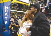 BEYONCE AND Jay-Z  attend the 2018 NBA Playoffs in April.