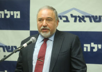 Defense Minister Avigdor Liberman speaks at a faction meeting on June 18th, 2018