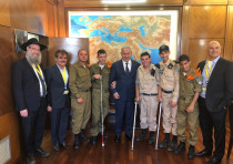 Special in Uniform Salutes the IDF Netanyahu Salutes Special in Uniform, June 19, 2018.