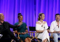Howie Mandel, Melanie Brown, Heidi Klum and Simon Cowell attend a panel