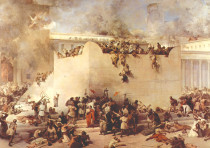 'THE DESTRUCTION of the Temple of Jerusalem,' Francesco Hayez, 1867