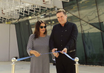 TRANSPORTATION MINISTER Israel Katz and Rona Ramon cut the ribbon to inaugurate Eilat's new airport.