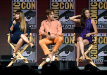 (L-R) Patty Jenkins, Chris Pine and Gal Gadot
