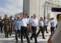 Avigdor Liberman at the Kerem Shalom Crossing, July 22, 2018