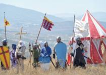 A GROUP of about 20 men take part in a three-day reenactment of the Battle of Hattin, which climaxed