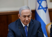 Prime Minister Benjamin Netanyahu at the cabinet meeting July 29, 2018