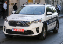 Israel police car (Illustrative)