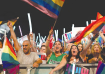 Protesters against the Surrogacy Law take part in a huge rally in Tel Aviv's Rabin Square on July 22