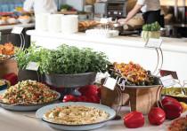 The salad bar at the Ritz-Carlton Hotel in Herzliya