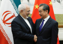 Chinese State Councillor and Foreign Minister Wang Yi meets Iranian FM Mohammad Javad Zarif