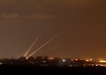 Rockets are launched from the northern Gaza Strip towards Israel,  Israel August 8, 2018.