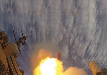 The Barak-8 missile is launched during a test