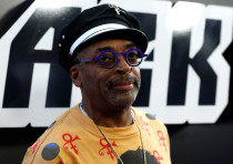 Director Spike Lee poses at the premiere for