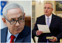 Benjamin Netanyahu (left) and Scott Morrison (right)