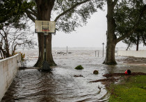 Water from Neuse River starts flooding houses as the Hurricane Florence comes ashore in NC.