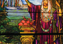 KING SOLOMON (pictured in Tiffany studios, Chicago) had the rebel leader Joab