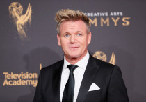 Chef Gordon Ramsay poses at the 2017 Creative Arts Emmy Awards in Los Angeles