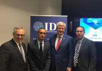 From Left: Canadian MP Tony Clement, Likud director-general Tzuri Sisso, IDU chairman and former Can