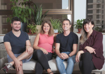 (L-R) Riskified employees Ephraim Rinsky, Gabi Kobrin, Tyler Golden and Miriam Syber