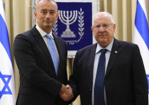 President Rivlin with UN Special Coordinator Mladenov on Wednesday, October 17, 2018.