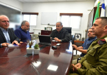 Netanyahu and Liberman conducted a situation assessment today in the Gaza Division