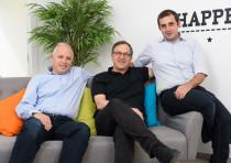 Co-founders of WhiteSource: (L-R) Ron Rymon, Azi Cohen and Rami Sass