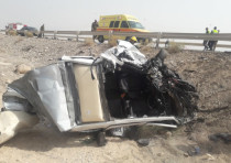 A parent and her child were killed in a car accident near the Dead Sea