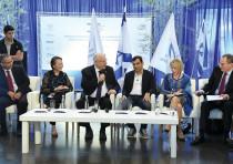 President Reuven Rivlin attends the launch of Excellenteam in Jerusalem