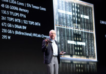 Nvidia chief scientist Bill Dally addresses the GPU Technology Conference in Tel Aviv