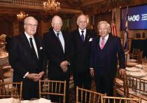 FROM LEFT: Baron David de Rothschild, Lord Jacob Rothschild, Ronald S. Lauder and Robert Kraft.