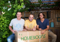 HomeBiogas co-founders (left to right): Chief financial officer Erez Lanzer, chief executive Oshik E